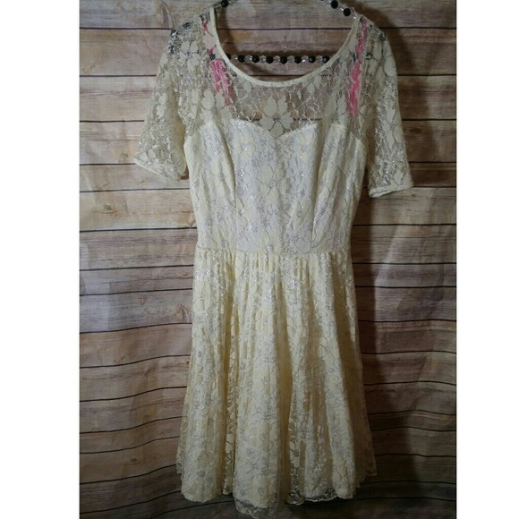 747faa1823e5 Betsey Johnson Dresses | Ivory Lace Dress | Poshmark
